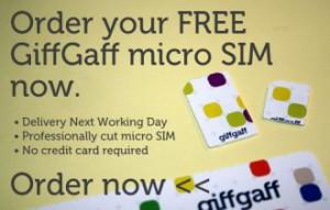 Get a free Giffgaff micro-SIM