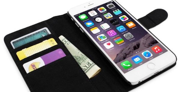 Snugg iPhone 6 Plus Leather Flip Case